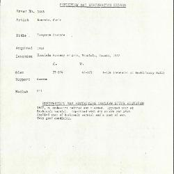 Image for K1668 - Condition and restoration record, circa 1950s-1960s