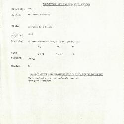 Image for K1691 - Condition and restoration record, circa 1950s-1960s