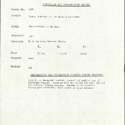 Image for K1664 - Condition and restoration record, circa 1950s-1960s