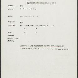 Image for K1677 - Condition and restoration record, circa 1950s-1960s