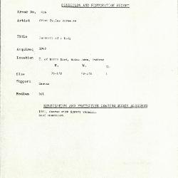 Image for K1686 - Condition and restoration record, circa 1950s-1960s