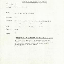Image for K1665 - Condition and restoration record, circa 1950s-1960s