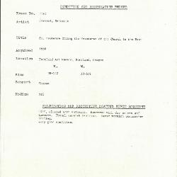 Image for K1693 - Condition and restoration record, circa 1950s-1960s