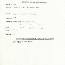 Image for K1662 - Condition and restoration record, circa 1950s-1960s