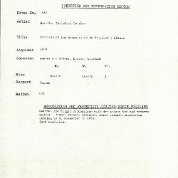 Image for K1682 - Condition and restoration record, circa 1950s-1960s