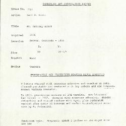Image for K1728 - Condition and restoration record, circa 1950s-1960s