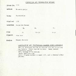 Image for K1712 - Condition and restoration record, circa 1950s-1960s