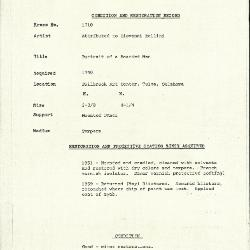 Image for K1710 - Condition and restoration record, circa 1950s-1960s