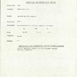 Image for K1704 - Condition and restoration record, circa 1950s-1960s