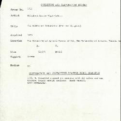 Image for K1711 - Condition and restoration record, circa 1950s-1960s