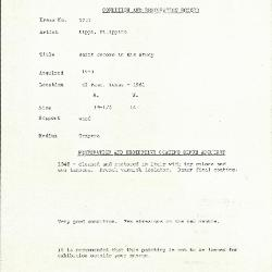 Image for K1727 - Condition and restoration record, circa 1950s-1960s