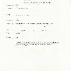 Image for K1703 - Condition and restoration record, circa 1950s-1960s