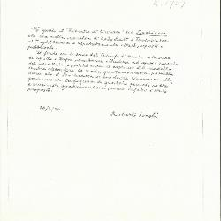 Image for K1729 - Expert opinion by Longhi, 1950