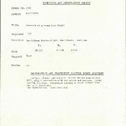 Image for K1729 - Condition and restoration record, circa 1950s-1960s