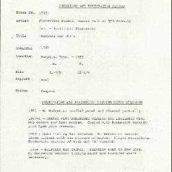 Image for K1723 - Condition and restoration record, circa 1950s-1960s