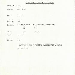 Image for K1707 - Condition and restoration record, circa 1950s-1960s