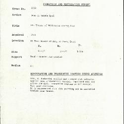Image for K1700 - Condition and restoration record, circa 1950s-1960s