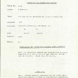 Image for K1752 - Condition and restoration record, circa 1950s-1960s