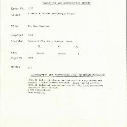 Image for K1737 - Condition and restoration record, circa 1950s-1960s