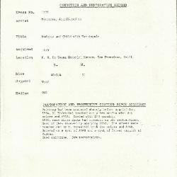Image for K1732 - Condition and restoration record, circa 1950s-1960s