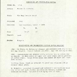 Image for K1745A - Condition and restoration record, circa 1950s-1960s