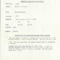 Image for K1745B - Condition and restoration record, circa 1950s-1960s
