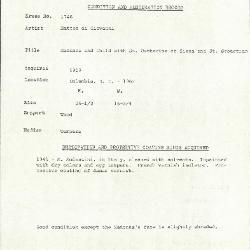 Image for K1746 - Condition and restoration record, circa 1950s-1960s