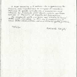 Image for K1751 - Expert opinion by Longhi, 1950