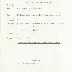 Image for K1736 - Condition and restoration record, circa 1950s-1960s