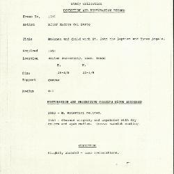 Image for K1731 - Condition and restoration record, circa 1950s-1960s