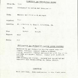 Image for K1733 - Condition and restoration record, circa 1950s-1960s