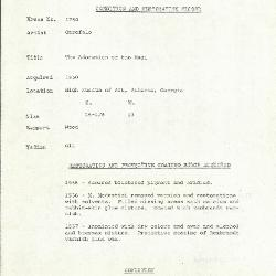 Image for K1750 - Condition and restoration record, circa 1950s-1960s