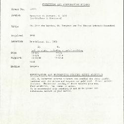 Image for K1744B - Condition and restoration record, circa 1950s-1960s
