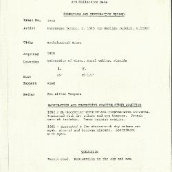 Image for K1748 - Condition and restoration record, circa 1950s-1960s