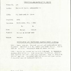 Image for K0177 - Condition and restoration record, circa 1950s-1960s
