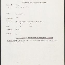 Image for K1758 - Condition and restoration record, circa 1950s-1960s