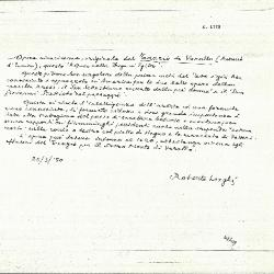 Image for K1773 - Expert opinion by Longhi, 1950