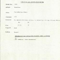 Image for K1762A - Condition and restoration record, circa 1950s-1960s