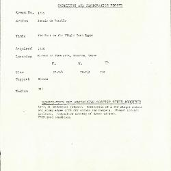 Image for K1773 - Condition and restoration record, circa 1950s-1960s