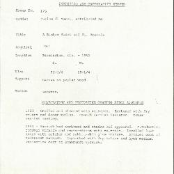 Image for K0176 - Condition and restoration record, circa 1950s-1960s