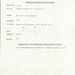 Image for K1757 - Condition and restoration record, circa 1950s-1960s
