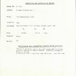 Image for K1774B - Condition and restoration record, circa 1950s-1960s