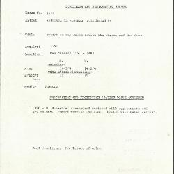 Image for K1779 - Condition and restoration record, circa 1950s-1960s