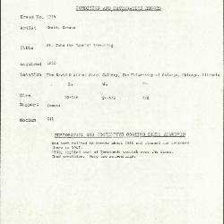 Image for K1759 - Condition and restoration record, circa 1950s-1960s