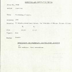 Image for K1762B - Condition and restoration record, circa 1950s-1960s