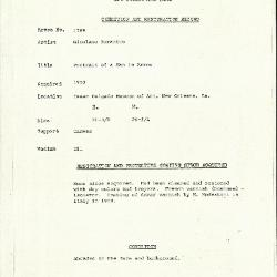 Image for K1769 - Condition and restoration record, circa 1950s-1960s