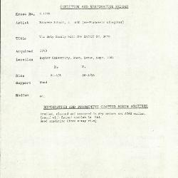 Image for K1755 - Condition and restoration record, circa 1950s-1960s
