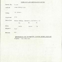 Image for K1754 - Condition and restoration record, circa 1950s-1960s