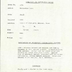 Image for K1764 - Condition and restoration record, circa 1950s-1960s