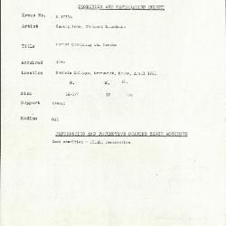 Image for K1775B - Condition and restoration record, circa 1950s-1960s